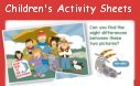 Children's Activity Sheets